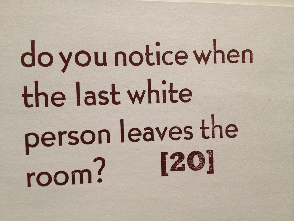 Thirty-Nine (39) Questions for White People